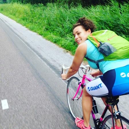 fietsen in de polder