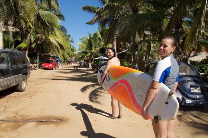 Surfen in La Punta, Mexico