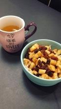 havermout met warme appel en rozijntjes