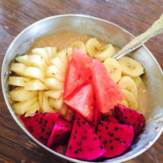 Ontbijt in het crossfit camp