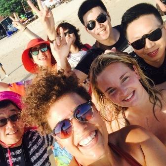 selfie met Koreaanse dagbezoekers