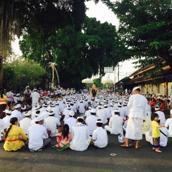 ceremonie op straat